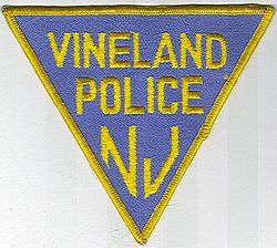 Vineland Police Patch (blue/yellow edge) (NJ)