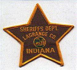 Sheriff: IN, Langrange Co. Sheriffs Dept. Patch