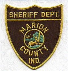 Sheriff: IN, Marion Co. Sheriffs Dept. Patch (shield shape)