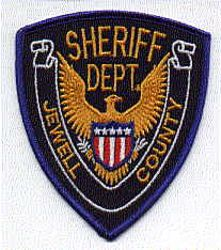Sheriff: KS, Jewell Co. Sheriffs Dept. Patch (gold letters)
