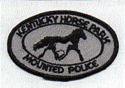 Horse Park Mounted Police Patch (black/gray) (KY)