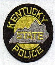 State: KY, State Police Patch (yellow/black)