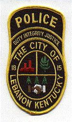 Lebanon Police Patch (KY)