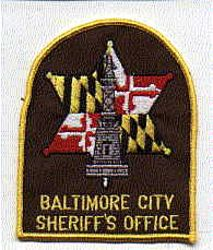 Sheriff: MD, Baltimore City Sheriffs Office Patch