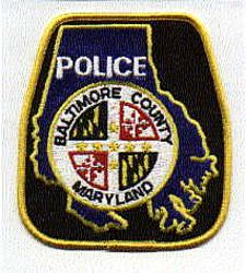 Baltimore Co. Police Patch (black/yellow edge) (MD)
