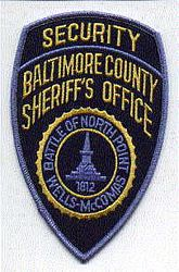 Sheriff: MD, Baltimore Co. Security Sheriffs Office Patch