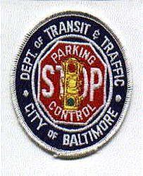 Baltimore Dept. of Transit & Traffic Patch (MD)