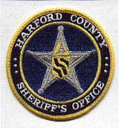 Sheriff: MD, Harford Co. Sheriffs Office (round, obselete-oldest version)