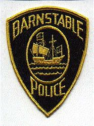 Barnstable Police Patch (yellow ship/full edge)(MA)