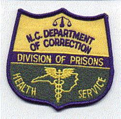 Dept. of Correction Division of Prisons Health Service Patch(NC)