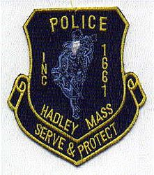 Hadley Police Patch (yellow edge) (MA)