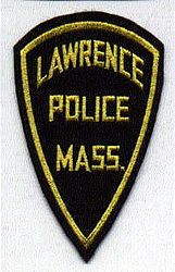 Lawrence Police Patch (felt/yellow letters) (MA)