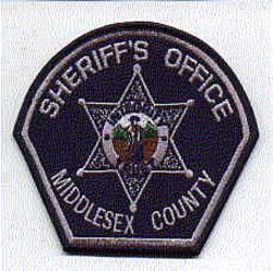 Sheriff: MA, Middlesex Co. Sheriffs Dept. Patch (blue, star)