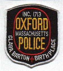 Oxford Police Patch (MA)
