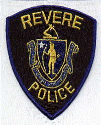 Revere Police Patch (twill/blue edge/gold letters)(MA)
