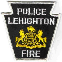 Lehighton Fire Police Patch (white edge) (PA)