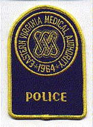 Eastern Virginia Medical Authority Police Patch (VA)