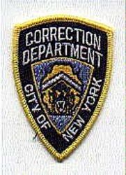 New York City Corrections Dept. Patch (cap size) (NY)
