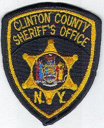 Sheriff: NY, Clinton Co. Sheriffs Office Patch (cap size)