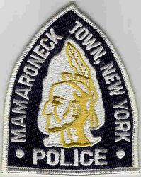 Mamaroneck Town Police Patch (white edge) (NY)