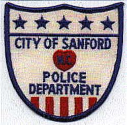 Sanford Police Patch (white, shield shape) (NC)
