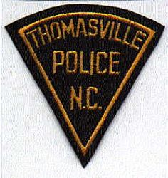 Thomasville Police Patch (black, felt)(NC)