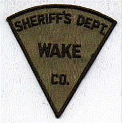 Sheriff: NC, Wake Co. Sheriffs Dept. Patch (brown, triangular)
