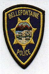 Bellefontaine Police Patch (color) (cap size) (OH)