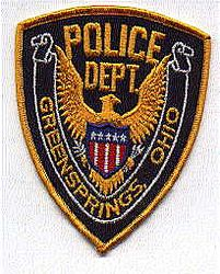 Greensprings Police Patch (gold edge) (OH)