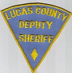Sheriff: OH, Lucas Co. Deputy Sheriff Patch (light blue twill/yellow)