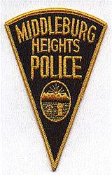 Middleburg Heights Police Patch (gold, triangular) (OH)