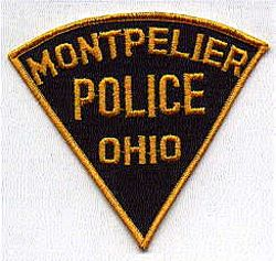 Montpelier Police Patch (triangular) (OH)