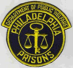 Philadelphia Prisons Dept. of Public Welfare Patch (PA)