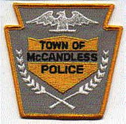 McCandless Police Patch (gray/gold) (PA)