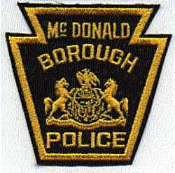 McDonald Borough Police Patch (PA)
