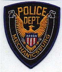 Mechanicsburg Police Patch (blue) (PA)