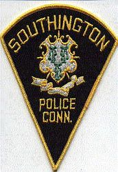 Southington Police Patch (black/felt)(CT)