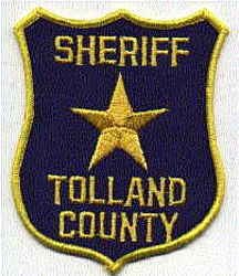 Sheriff: CT, Tolland Co Sheriffs Dept. Patch (old,shield shape)