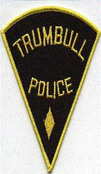 Trumbull Police Patch (black/yellow edge)(CT)