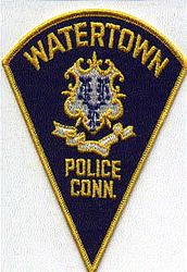 Watertown Police Patch (large, blue) (CT)