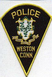 Weston Police Patch (black) (CT)