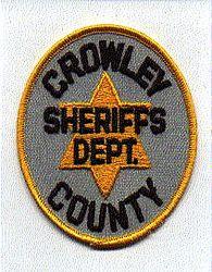 Sheriff: CO, Crowley Co. Sheriffs Dept. Patch (gray/gold)