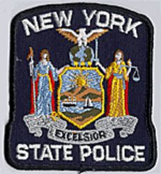State: NY, State Police Patch (black edge)
