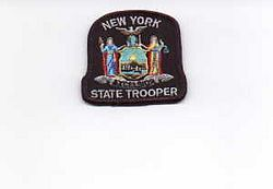 State: NY, State Trooper Patch (cap badge)