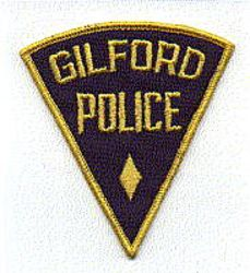 Gilford Police Patch (blue/gold, triangular) (NH)