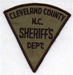 Sheriff: NC, Cleveland Co. Sheriffs Dept. Patch
