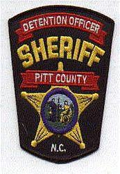 Sheriff: NC, Pitt Co. Sheriffs Dept. Detention Officer Patch