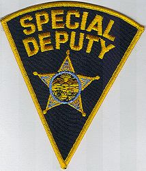 Sheriff: OH, Sheriffs Dept. Special Deputy Patch(no sheriff written)