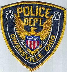 Owensville Police Patch (gold edge) (OH)
