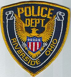 Riverside Police Patch (gold edge) (OH)